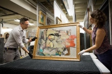 """The return of the Willem de Kooning painting """"Woman-Ochre"""" to its place in the abstract expressionist collection at the UA Museum of Art was an unexpected highlight of 2017."""
